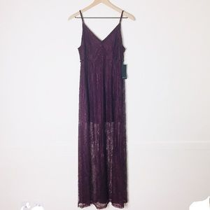 NWT Forever 21 Festival Style Lacy Maxi Dress M